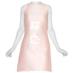 1990's Pink Prada Cotton Dress With Flowers