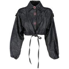 1990s Pollini Blue Short Jacket