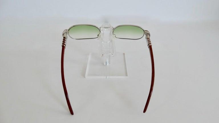 Porta Romana 1990s Green Ombre Lens Sunglasses  In Good Condition For Sale In Scottsdale, AZ