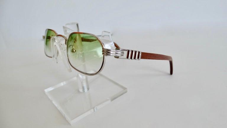 Porta Romana 1990s Green Ombre Lens Sunglasses  For Sale 1