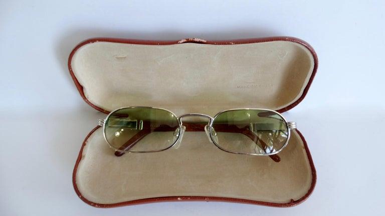 Porta Romana 1990s Green Ombre Lens Sunglasses  For Sale 2