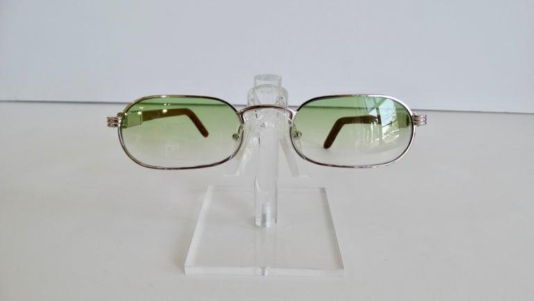 Porta Romana 1990s Green Ombre Lens Sunglasses  For Sale 4