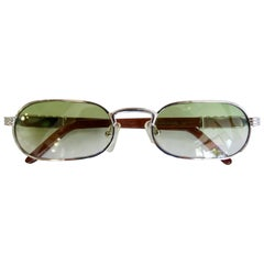 Porta Romana 1990s Green Ombre Lens Sunglasses