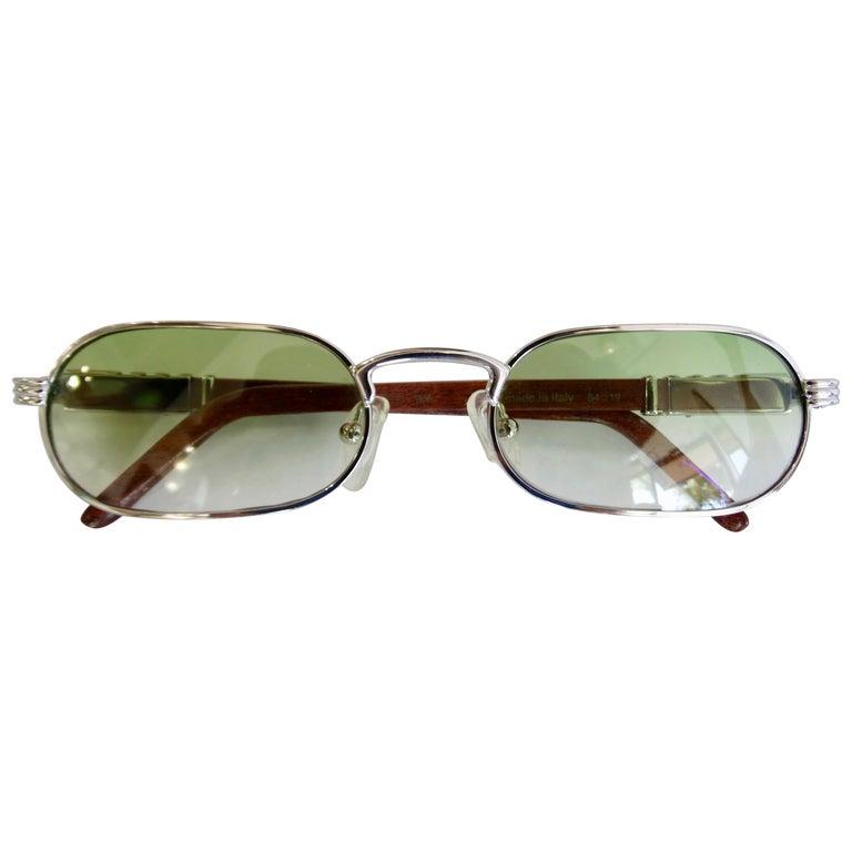 Porta Romana 1990s Green Ombre Lens Sunglasses  For Sale