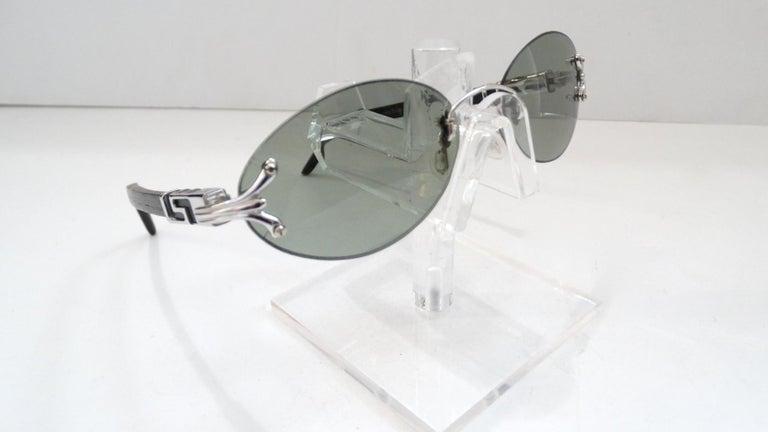 Porta Romana 1990s Skinny Black Wood Stain Sunglasses  For Sale 1