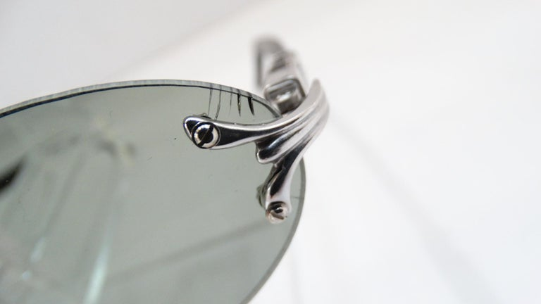 Porta Romana 1990s Skinny Black Wood Stain Sunglasses  For Sale 2