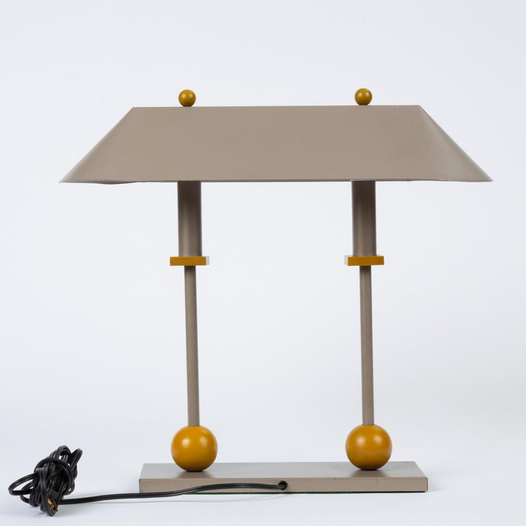 Enameled 1990s Postmodern Desk or Table Lamp by Robert Sonneman for George Kovacs For Sale