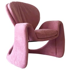 1990's Postmodern Lounge Chair in the Style of Olivier Mourgue