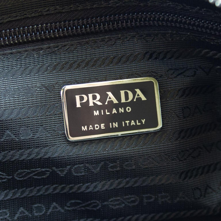 1990s Prada Beige Leather Bowling Bag  For Sale 3