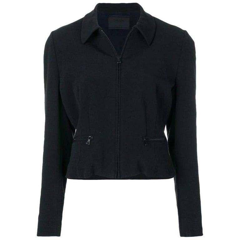 1990s Prada Black Jacket For Sale