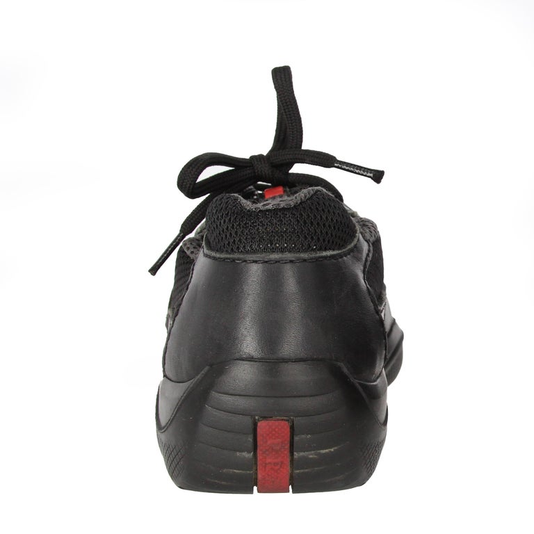 1990s Prada Black Lace-up Shoes For Sale 7