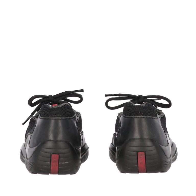 1990s Prada Black Lace-up Shoes For Sale 1