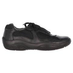 1990s Prada Black Lace-up Shoes