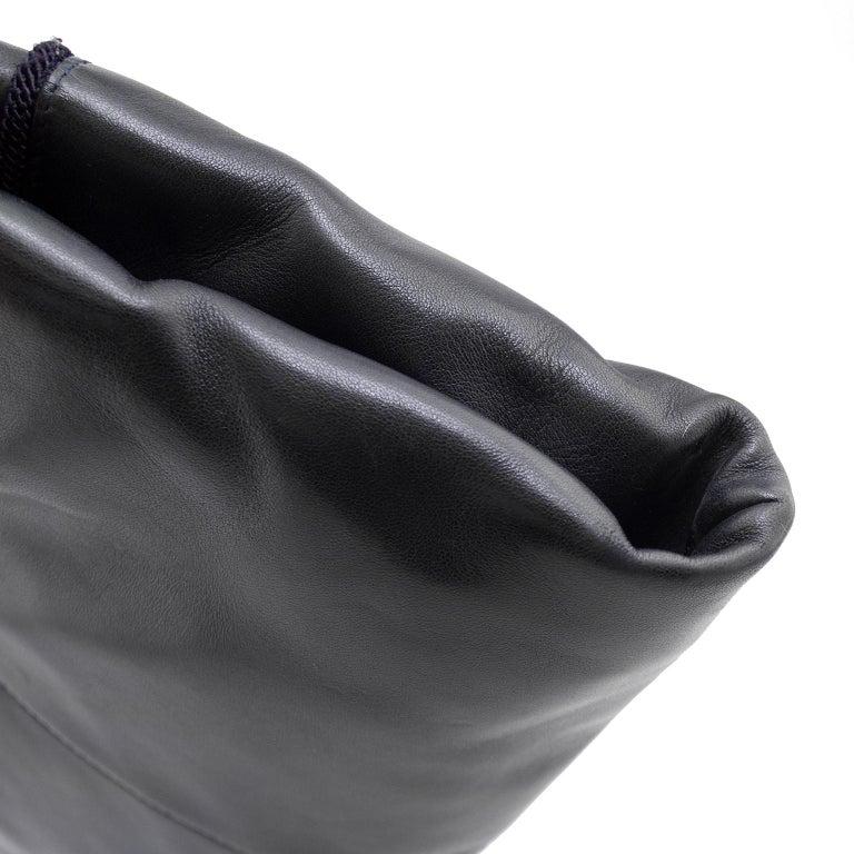 1990s Prada Black Leather Shoulder Bag  For Sale 1