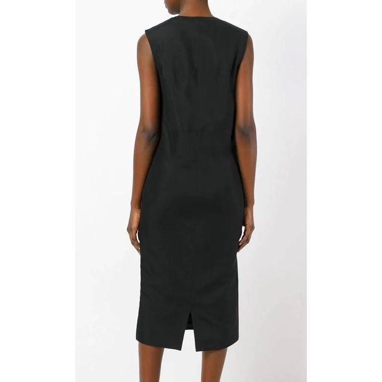 1990s Prada Black Midi Dress In Excellent Condition For Sale In Lugo (RA), IT