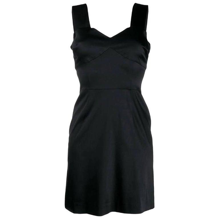 1990s Prada Black Short Dress For Sale