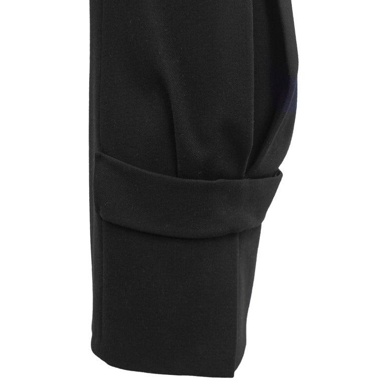 Women's 1990s Prada Black Wool Shift Dress  For Sale
