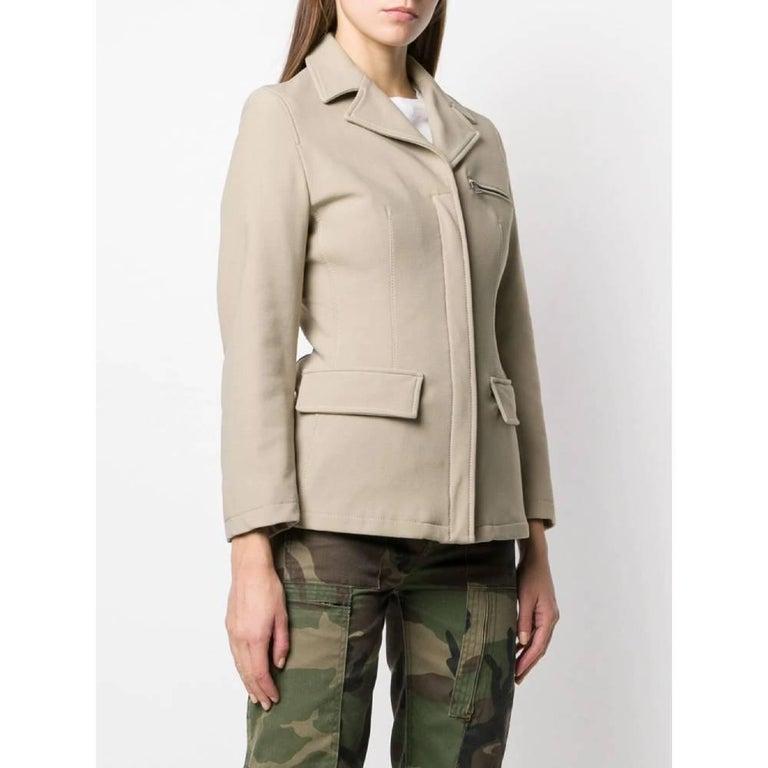 Beige 1990s Prada Dove Grey Jacket For Sale