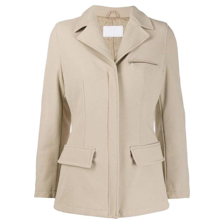 1990s Prada Dove Grey Jacket For Sale