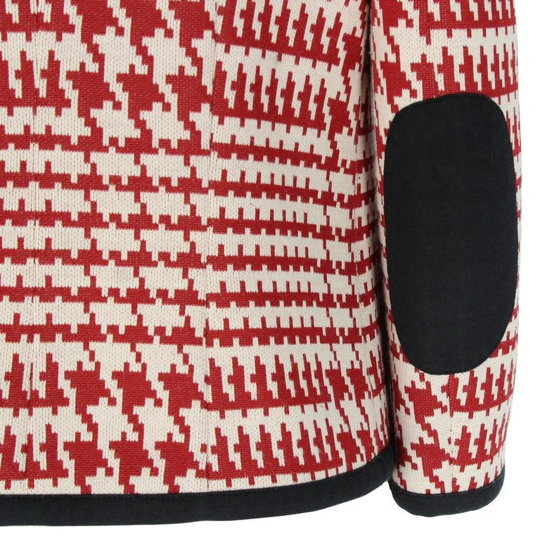 1990s Prada Geometric Pattern Jacket In Excellent Condition In Lugo (RA), IT