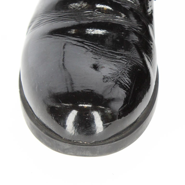 1990s Prada Leather Lace-up Shoes For Sale 5