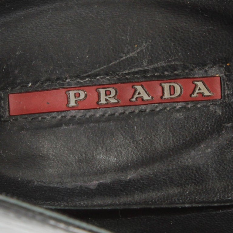 1990s Prada Leather Lace-up Shoes For Sale 7