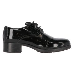 1990s Prada Leather Lace-up Shoes