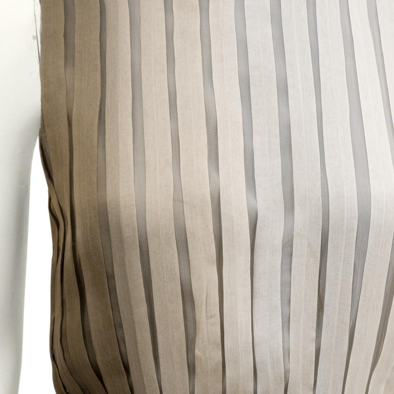 1990s Prada Pleated Taupe Chiffon Ombre Dress  For Sale 1