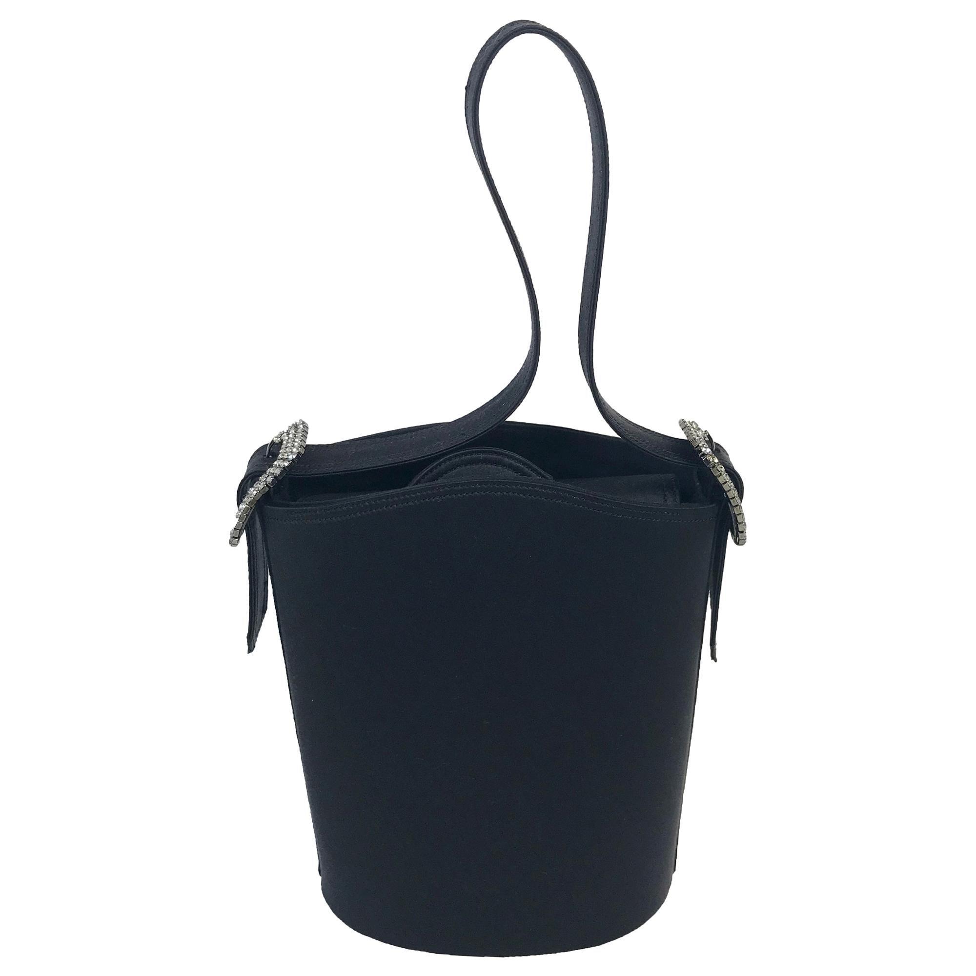 1990s Renaud Pellegrino black satin mini evening bag