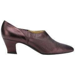 1990s Rene Caovilla Purple Low-Heeled Shoes