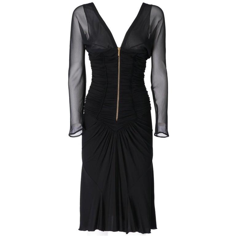 1990s  Roberto Cavalli Black Dress In Fair Condition For Sale In Lugo (RA), IT