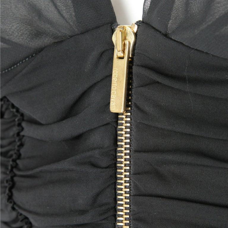 Women's 1990s  Roberto Cavalli Black Dress For Sale