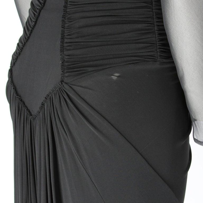 1990s  Roberto Cavalli Black Dress For Sale 1