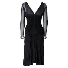 1990s  Roberto Cavalli Black Dress