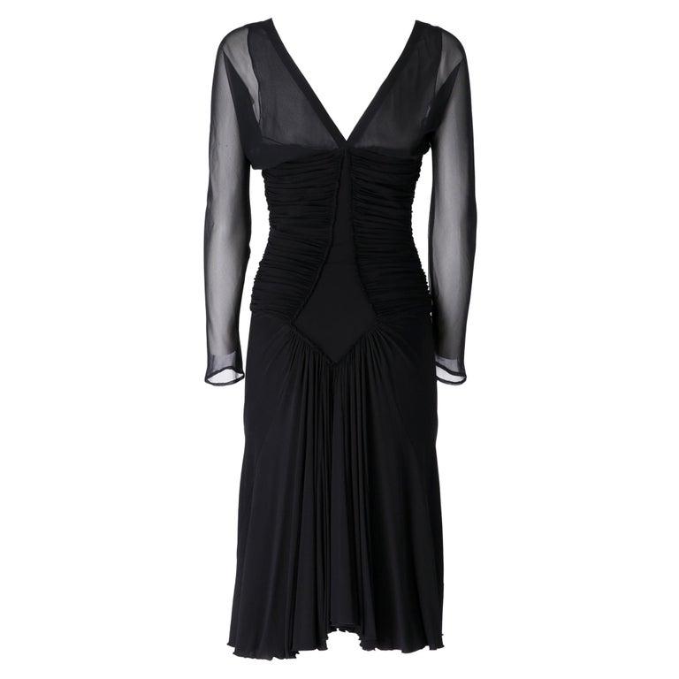 1990s  Roberto Cavalli Black Dress For Sale