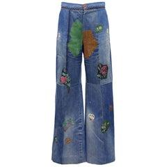 1990s Roberto Cavalli Patchwork Jeans