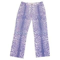 1990S Roberto Cavalli Purple Leopard Jeans