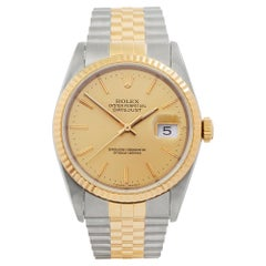 1990s Rolex Datejust Steel and Yellow Gold 16233 Wristwatch