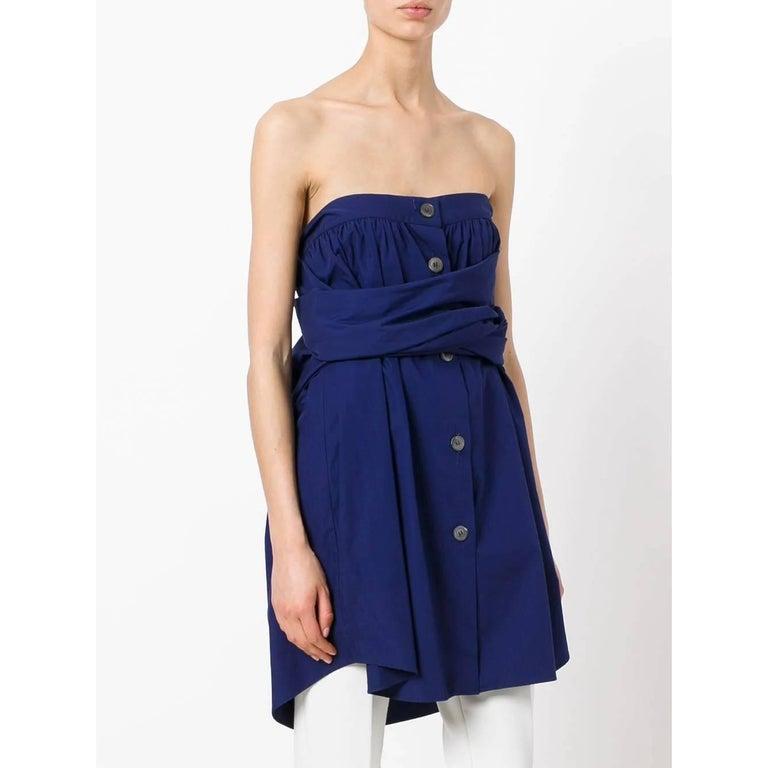Purple 1990s Romeo Gigli Bandeau Dress For Sale