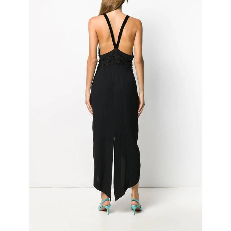 Women's 1990s Romeo Gigli Black Embroidered Dress