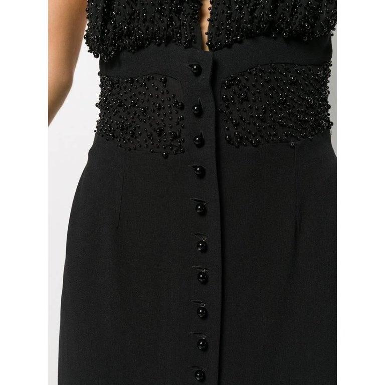 1990s Romeo Gigli Black Embroidered Dress 1