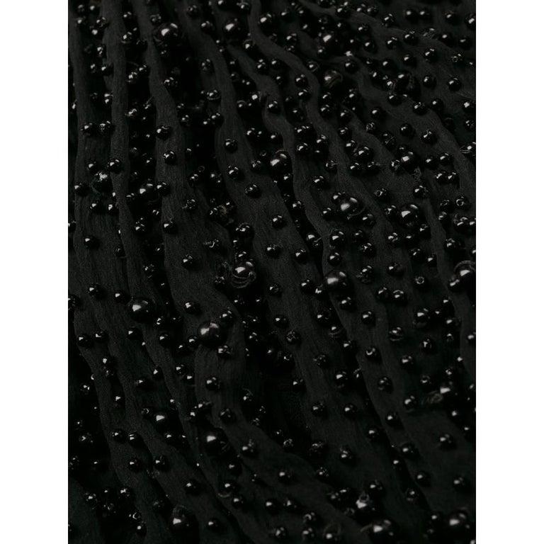 1990s Romeo Gigli Black Embroidered Dress 2