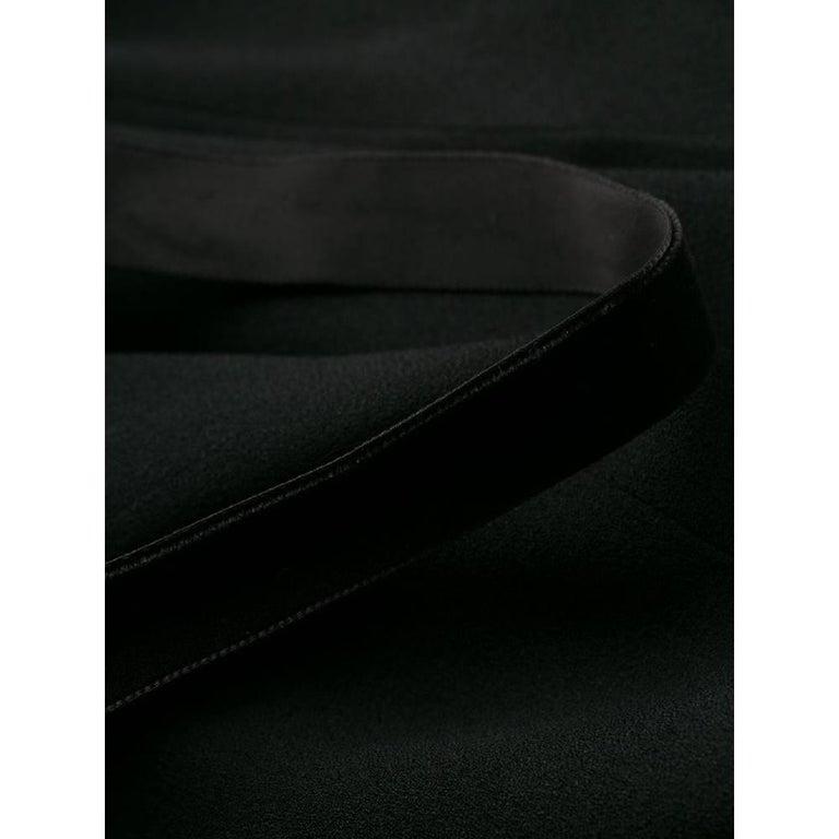 1990s Romeo Gigli Black Embroidered Dress 3