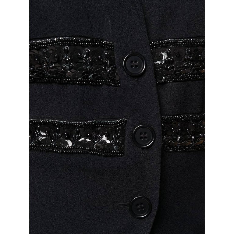 1990s Romeo Gigli Black Embroidered Jacket-Vest For Sale 2