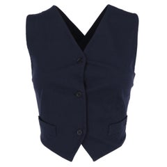 1990s Romeo Gigli Blue Braided Detail Vest