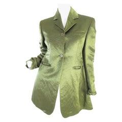 1990s Romeo Gigli Green Silk Blazer