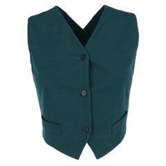 1990s Romeo Gigli Green Vest