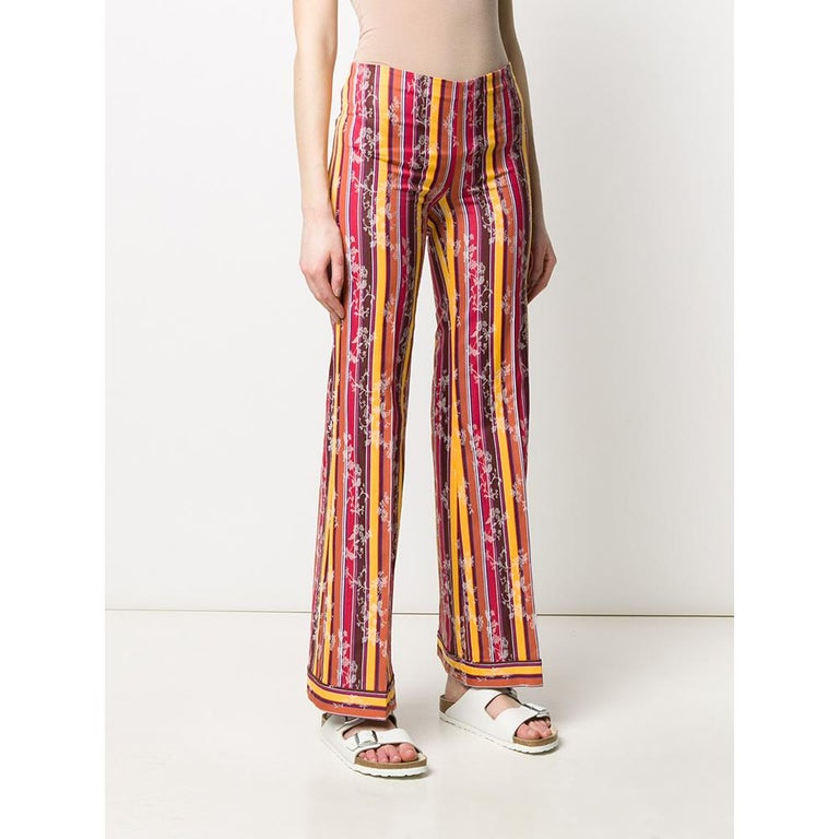 Pink 1990s Romeo Gigli Jacquard Trousers For Sale