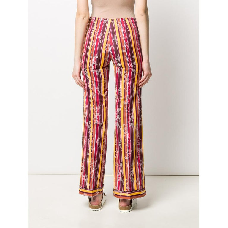 1990s Romeo Gigli Jacquard Trousers In Good Condition For Sale In Lugo (RA), IT