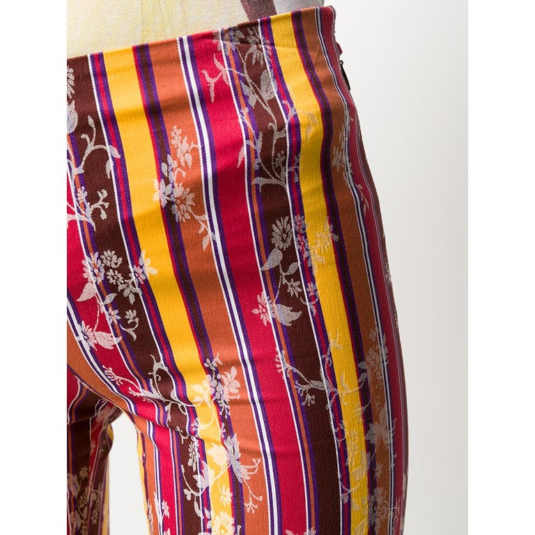 Women's 1990s Romeo Gigli Jacquard Trousers For Sale
